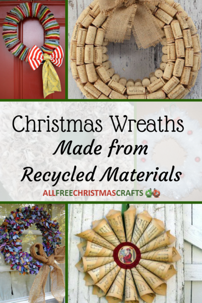 20 Christmas Wreaths Made from Recycled Materials