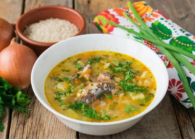 Canned Fish and Rice Soup