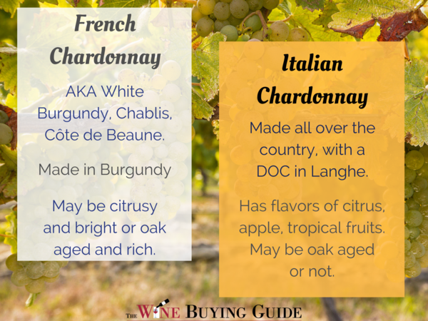 French vs Italian Chardonnay