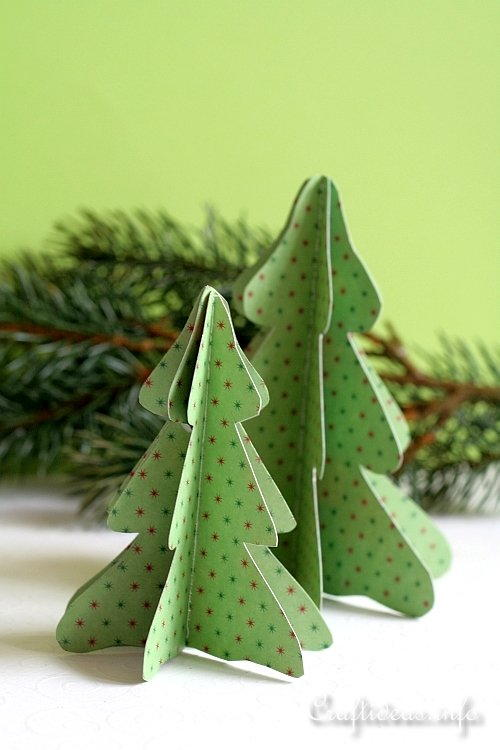 3-D Paper Table Trees for Decorating