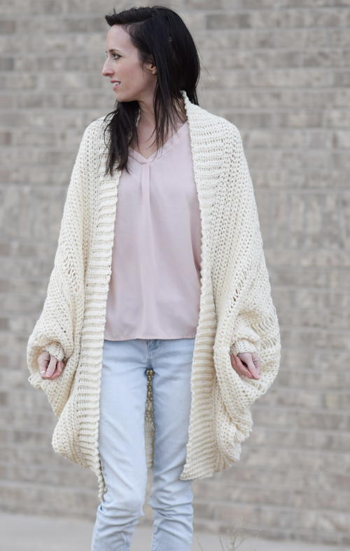 Pretty Drop Stitch Cardigan