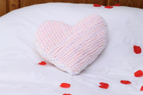 Faux Chenille Heart Pillow Tutorial