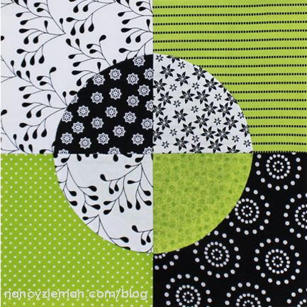 Quarter Circle Quilt Block Pattern