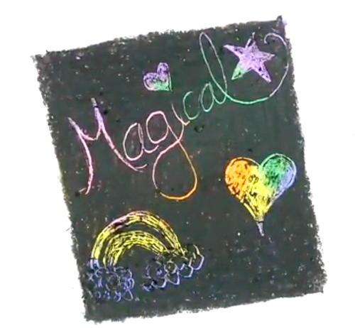 Magical Unicorn Crayon Scratch Art