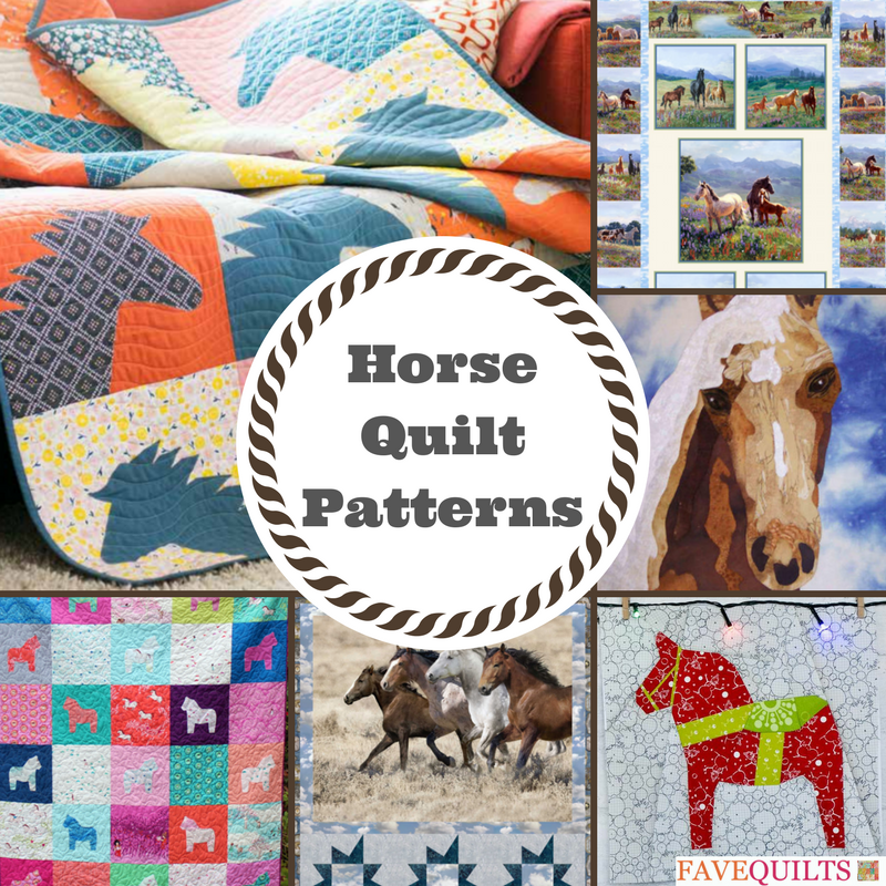 Saddle Up 10 Horse Quilt Patterns Favequilts Com