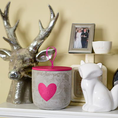 DIY Concrete Jar Candle Makeover