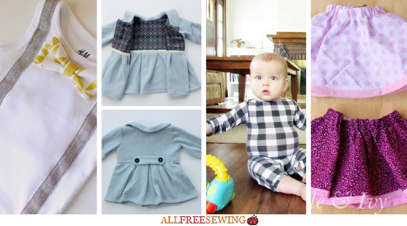 Sewing For Baby 18 Diy Baby Clothes Allfreesewing Com