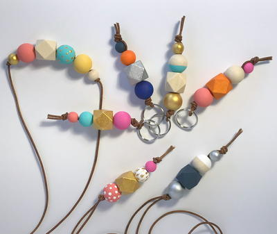Wooden Bead Keychains_1