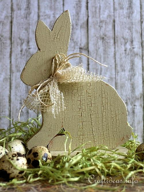 Vintage Looking Wooden Bunny