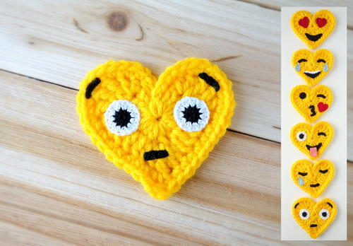 Surprised Face Crochet Emoji