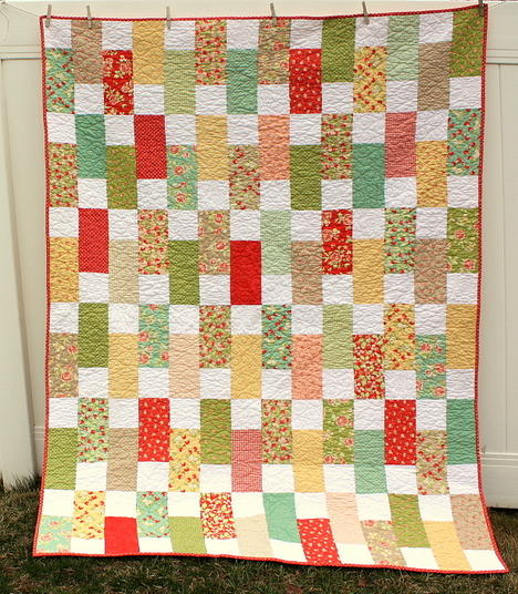 Simple and Sweet Bricks Quilt