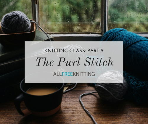 Knitting Class The Purl Stitch Part 5