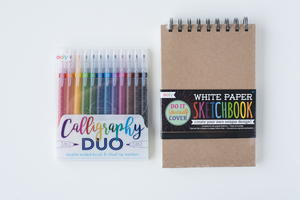 Calligraphy DUO Markers and Sketchbook Giveaway