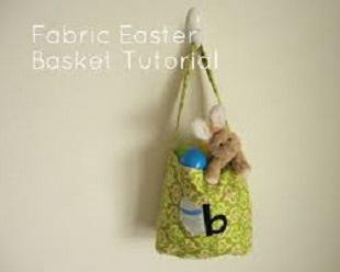 Fabric Applique Easter Basket