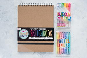 Retractable Neon Markers and Sketchbook Giveaway