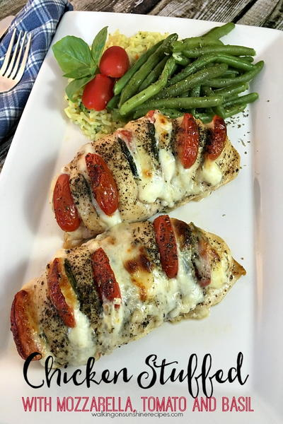 Hasselback Chicken Stuffed with Mozzarella