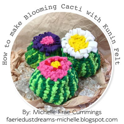 Blooming DIY Felt Cactus Pattern