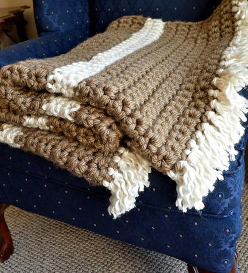Mega Bulky Yarn Crochet Blanket Cheapthriftyliving