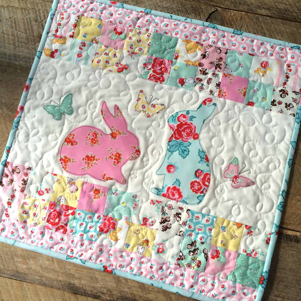Ez Print Bunny Applique Pillow And Mini Quilt Favecrafts Com