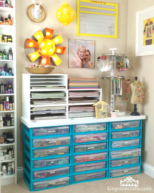 How to Decorate Plastic Storage Drawers