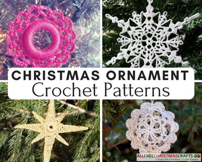 they are small which usually means they are quick to make there is an endless supply of free crochet patterns for christmas ornaments so you should