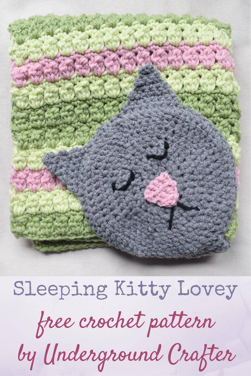 Kitty Crochet Baby Lovey Blanket | FaveCrafts.com