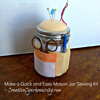 DIY Mason Jar Sewing Kit