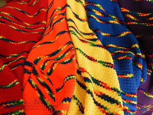 Fiesta Rainbow Crochet Blanket Pattern Favecrafts