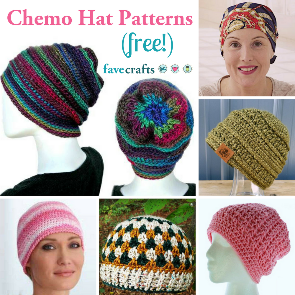 7 Free Chemo Hat Patterns: a beautiful way to show support ...