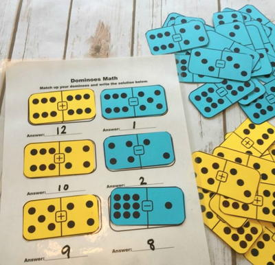 Domino Math Addition Printable