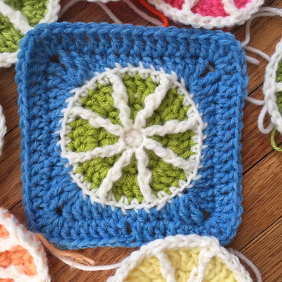 Citrus Slice Granny Square