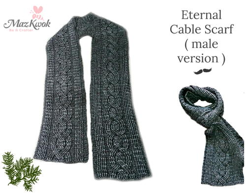 Eternal Cable Scarf Male Version Allfreecrochet