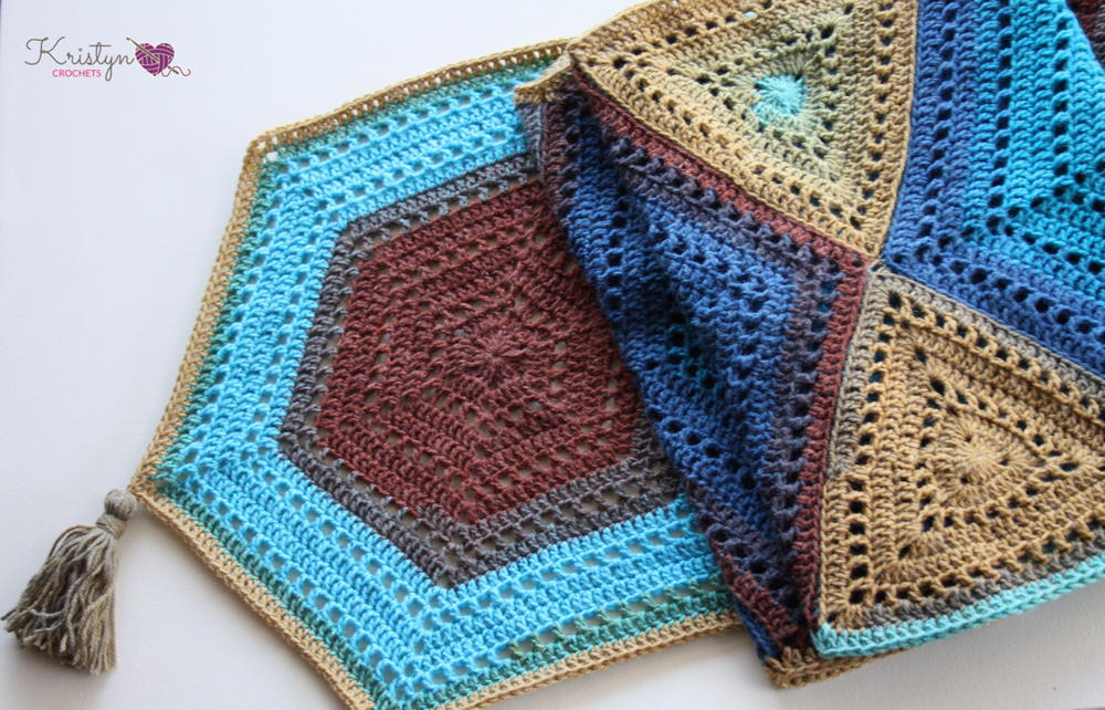 Hexagon Medley Wrap Allfreecrochet