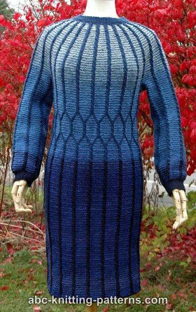 Classical Elegance Cable Dress Allfreeknitting