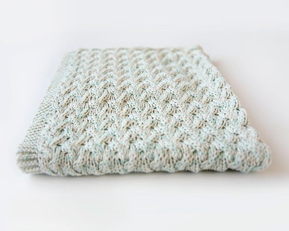 Waterfall Baby Blanket | AllFreeKnitting.com