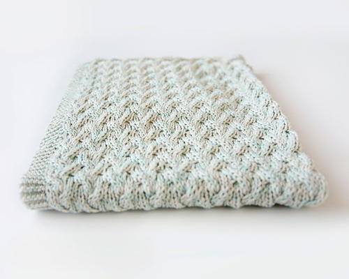Waterfall Baby Blanket Allfreeknitting