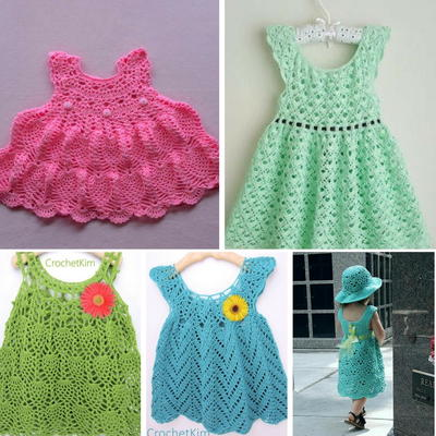 16 Adorable Crochet Baby Dress Patterns Free Allfreecrochet