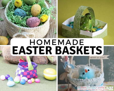 32 crafty ways to make an easter basket allfreeholidaycrafts pump up your easter basket creativity this year with these egg cellent tutorials for handmade easter baskets this collection of 32 crafty ways to make an negle Images
