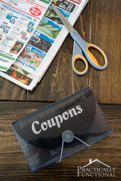 DIY Coupon Organizer
