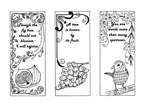 Religiously Inspired Bookmark Coloring Templates | FaveCrafts.com