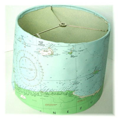 Beach Map Lamp Shade_1
