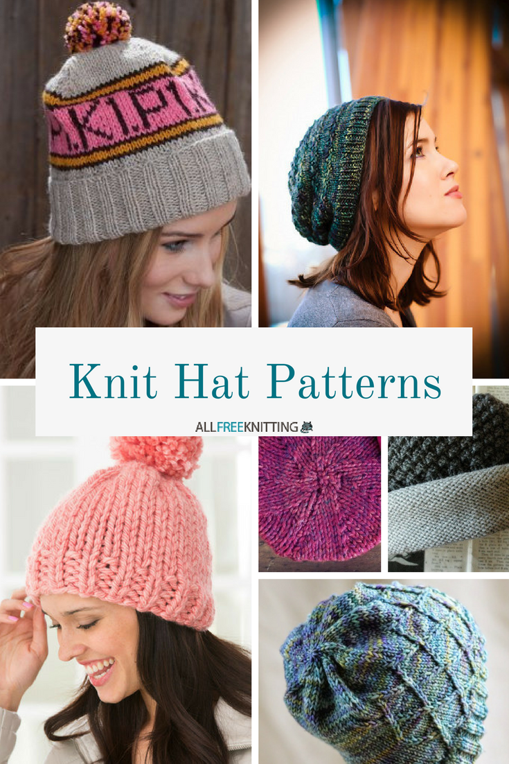66+ Knit Hat Patterns for Winter | AllFreeKnitting.com