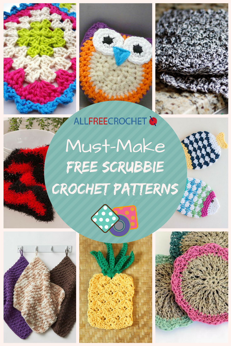 21 Must-Make Free Scrubbie Crochet Patterns | AllFreeCrochet.com