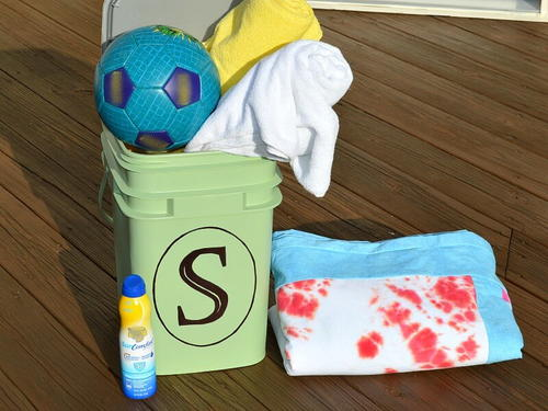 Upcycled Pool Storage Container