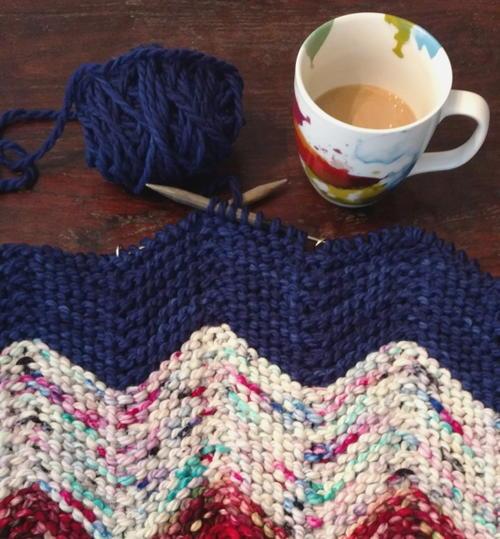 Zen Yarn Garden Chevron Baby Blanket AllFreeKnittingcom