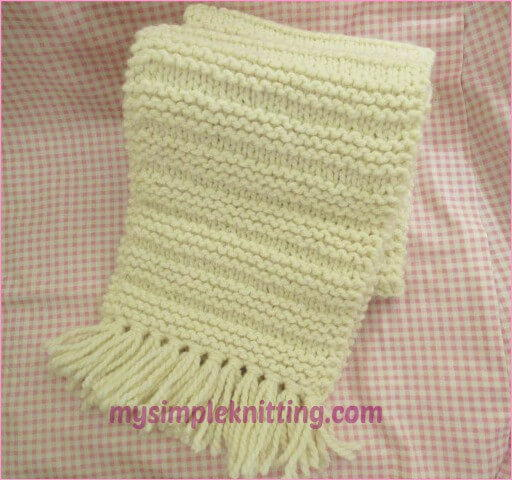 Big Squishy Scarf Knitting Pattern