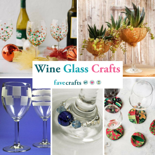 Wine Glass Crafts 20 Wine Glass Decorating Ideas Charms and More  sc 1 st  FaveCrafts & Wine Glass Crafts: 20+ Projects and Accessories | FaveCrafts.com