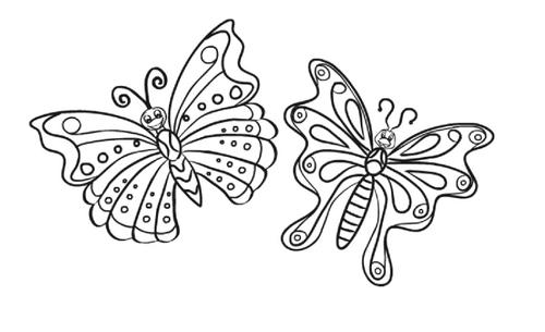 winged butterfly beauty online coloring - Online Coloring