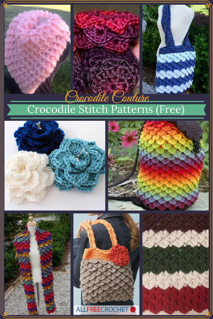 Crocodile Couture: 24 Crocodile Stitch Patterns (Free ...