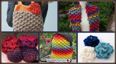 Crocodile Couture: 24 Crocodile Stitch Patterns (Free)